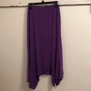 ~ASHLEY STEWART~ BNWT Asymmetrical Maxi Skirt